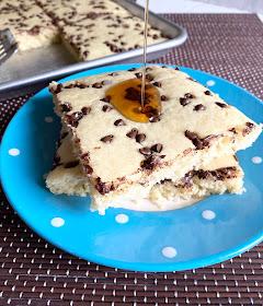 sheet pan chocolate chip pancakes #sweetsavoryeats