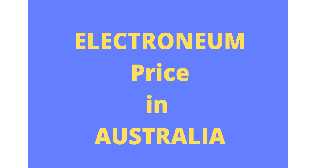 Electroneum currency price