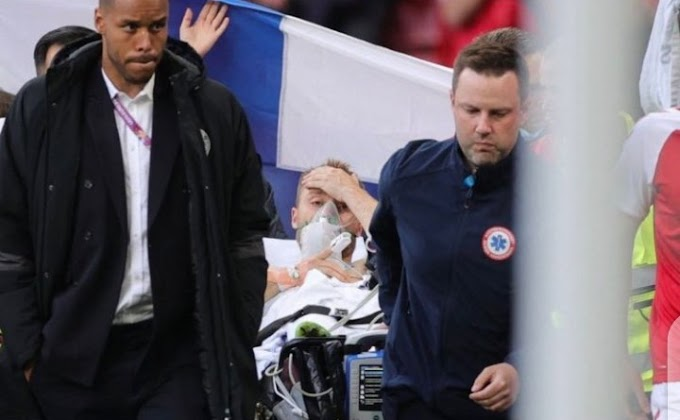 Christian Eriksen collapses during Euro 2020 opener against Finland, match suspended