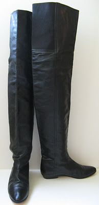 84a64b3af69 eBay Leather  Vintage Anne Klein black leather thigh-high boots