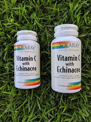 Solaray Vitamin C with Echinacea vegetarian capsules - www.modenmakeup.com