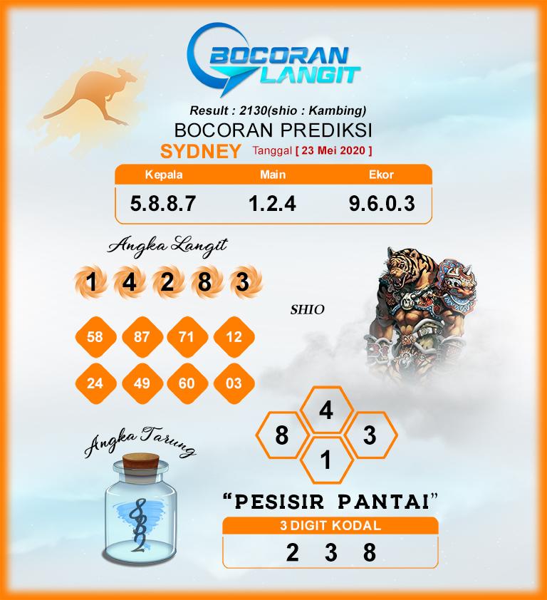 Kode Syair Sydney Sabtu 23 Mei 2020 - Bocoran Sydney