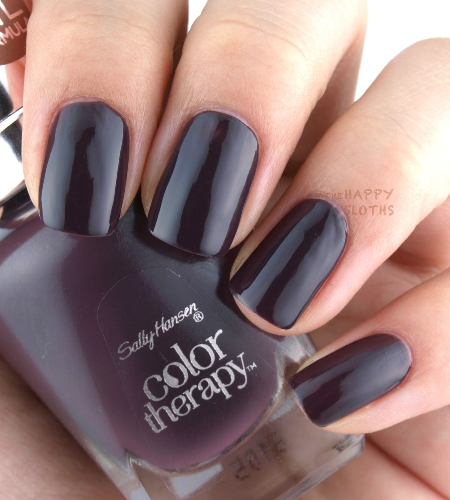 Colour therapy for stomach - A Deep Inky Mauve Purple Exotic Acai Is Another Disappointingly Sheer Color The Second Coat Mostly Covered Things Up But For A Shade This Dark