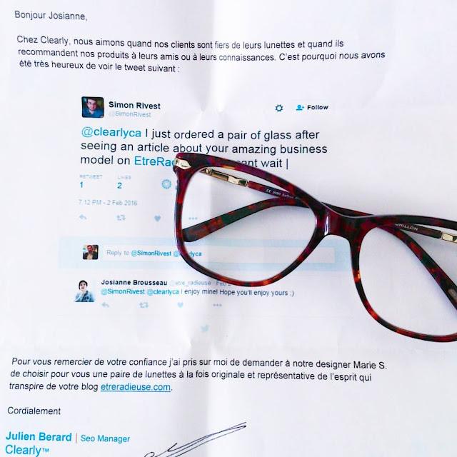 Une histoire de lunettes: Merci Clearly Canada