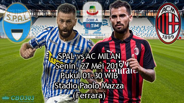 Prediksi Liga Italia SPAL vs AC Milan (27 Mei 2019)