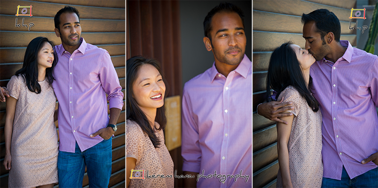 Engagement Session for Chang and Mehul on Abbot Kinney Blvd.