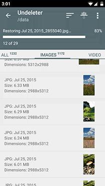 تطبيق Undeleter لاستعادة الملفات المحذوفة على الأندرويد بدون روت - صورة لقطة شاشة (3)