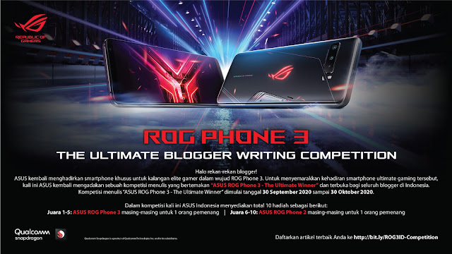 Daftar Peserta Blogger Writing Competition ROG Phone 3 The Ultimate Winner