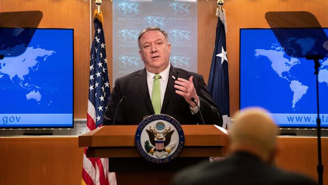 """Pompeo: """"Los negocios con buques de Irán, Corea del Norte y Siria tienen riesgo de sufrir graves consecuencias"""""""