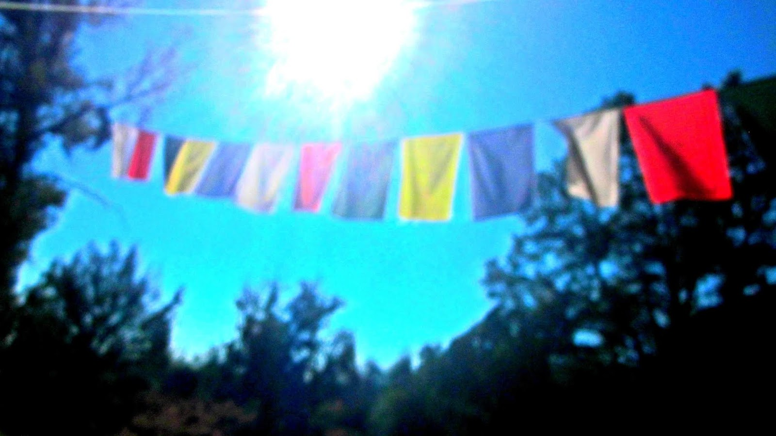 The Stupa of Sedona, Arizona Prayer Cloths in the Sun Filtered Light of the Desert Mecca