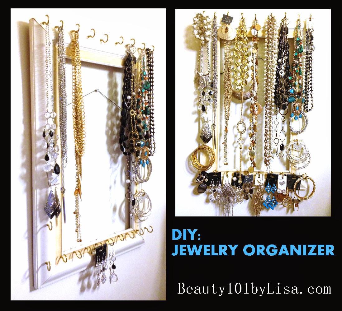Beauty101byLisa: DIY: Jewelry Organizer