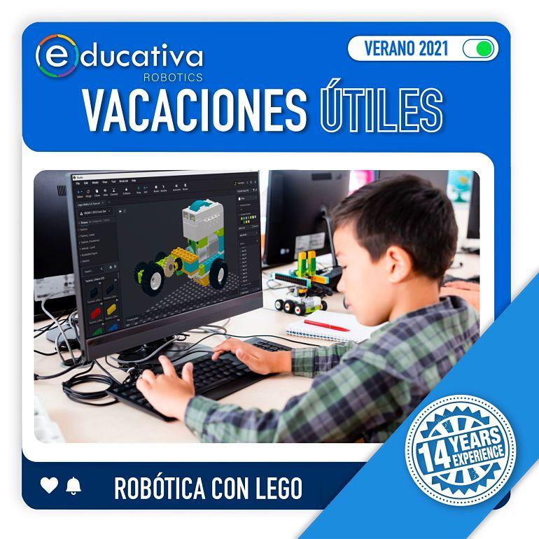 Estas Vacaciones Útiles Verano 2021 aprende Robótica Lego