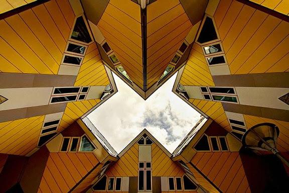 ngôi nhà hình khối ở Rotterdam