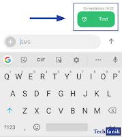 Xiaomi SMS Sygnalizacja zaplanowanej wiadomości