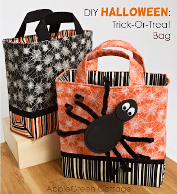 Halloween diy trick or treat bags