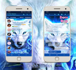 Cute Wolf Theme For YOWhatsApp & Fouad WhatsApp By Driih Santos
