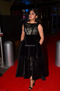 Niveda Thomas Black Sleeveless Cute Dress at 64th Jio Filmfare Awards South 2017 ~  Exclusive 049.JPG