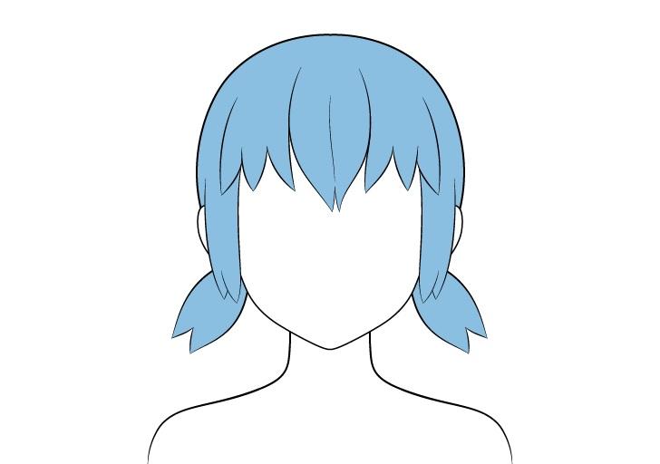 Pewarnaan rambut kuncir pendek anime