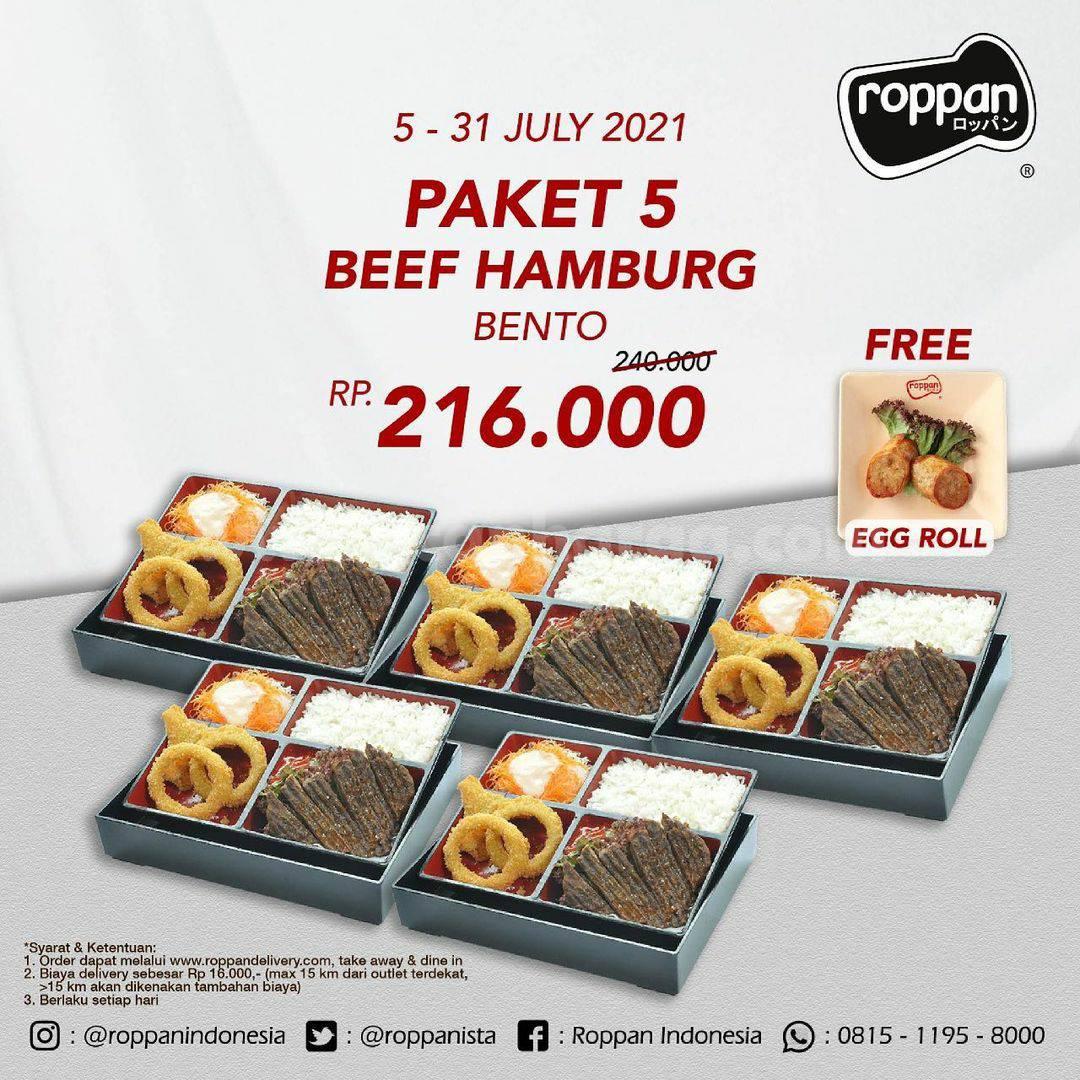 Roppan Promo Paket 5 Bento Mix + Gratis Egg Roll harga mulai 189K 6