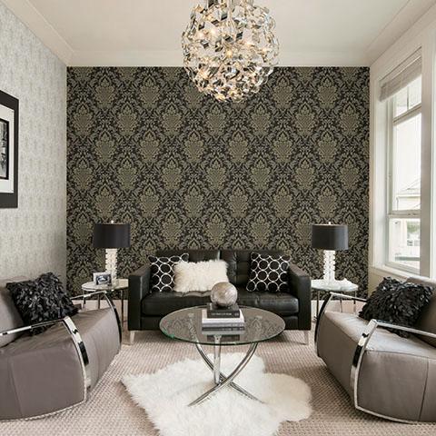 Giấy dán tường phòng ngủ màu đen đẹp sang trọng và cuốn hút