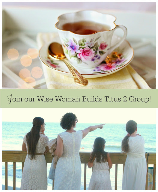 Join our NEW Wise Woman Builds Titus 2 Facebook Group! Just click on the image below!