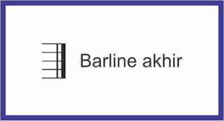 barline akhir pada not balok