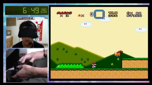 Um usuário japonês bateu o record de zerar Super Mario World em menor tempo jogando o título totalmente às cegas.