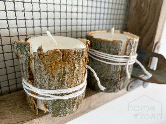 Decorative Tree Bark Candle Wraps