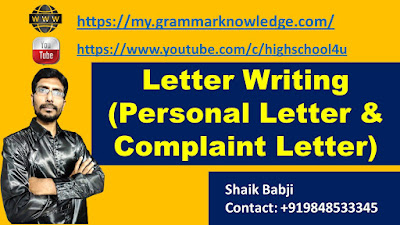 Letter Writing (Personal Letter & Complaint Letter)