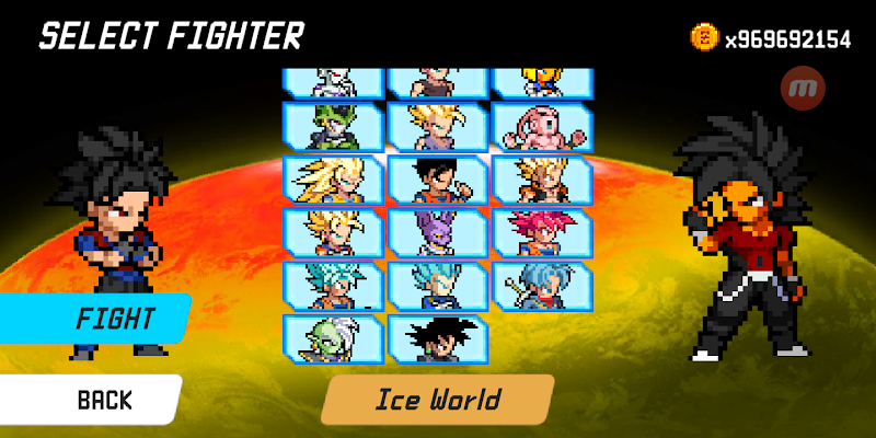 Dragon World Saiyan Warriors APK Mod with unlimited coins