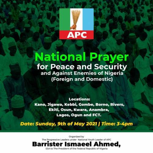 APC Spends Millions Of Naira On Prayers In Anambra, Kano, Lagos, 10 Other States To Tackle Insecurity