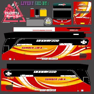 Download Livery Es Bus Id Po. Sumber jaya