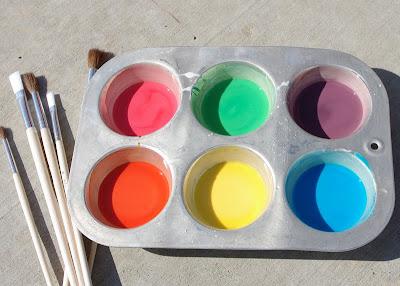 Homemade Sidewalk Chalk Paint blog image 1