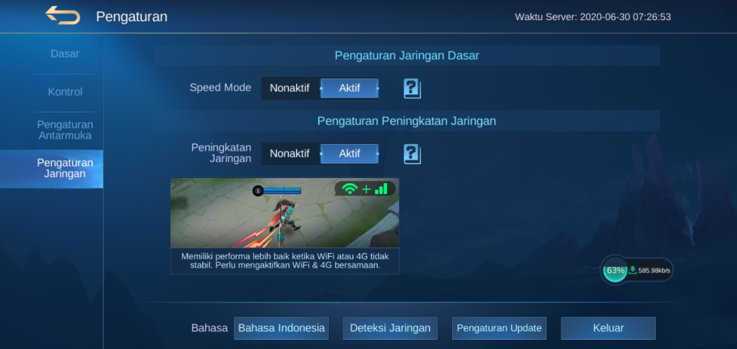 Terbaru, Cara Main Mobile Legend Ping Hijau Stabil Tak Jumping