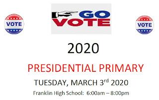 Franklin Voters: 2020 PRESIDENTIAL PRIMARY - Info