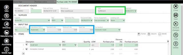 purchase order vat