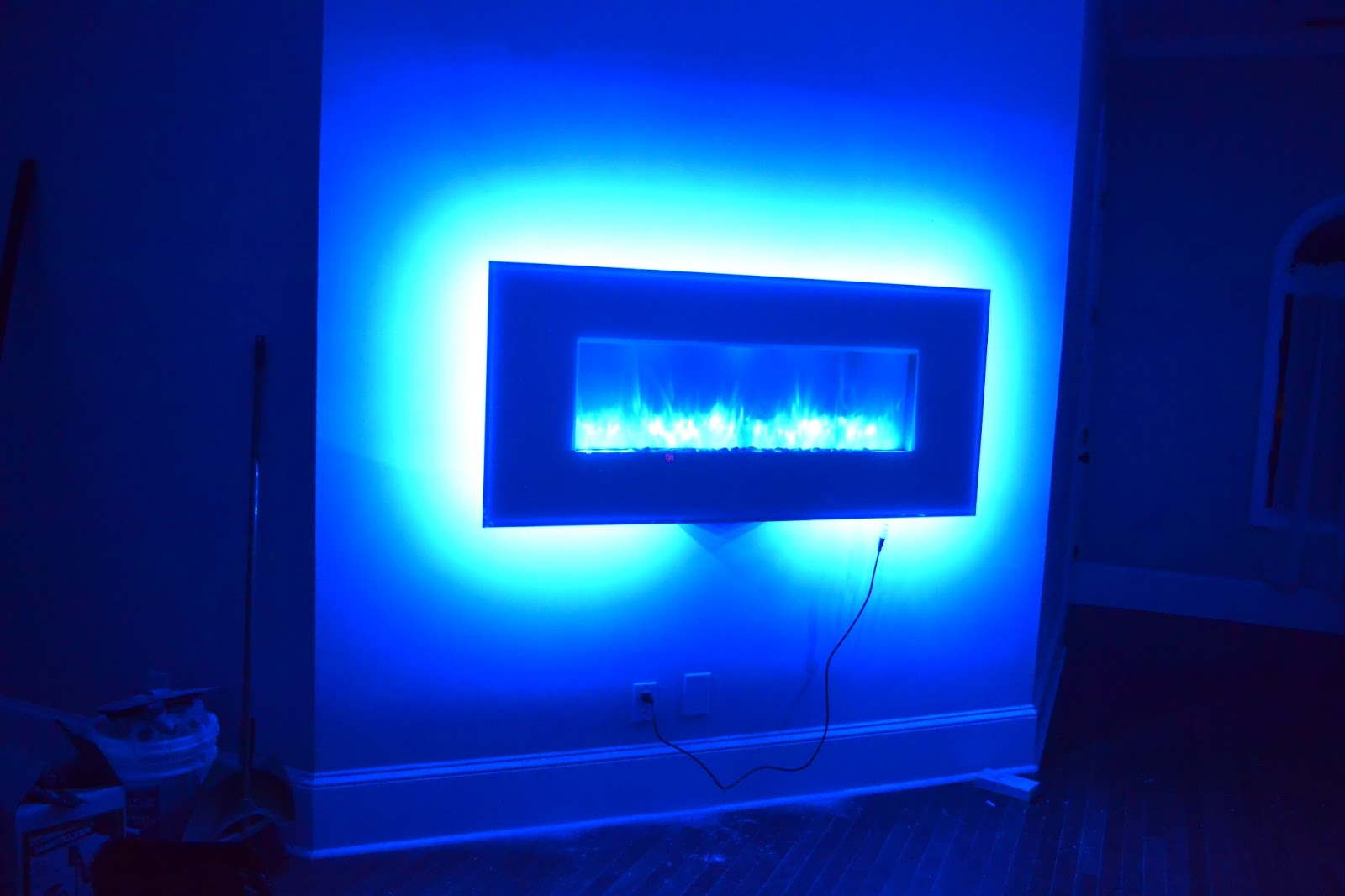 Electric Fireplace Review Crazy Led Backlit Insanity