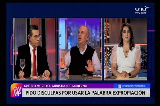 Murillo dice que fue un error el uso del término 'expropiación' y pide disculpas