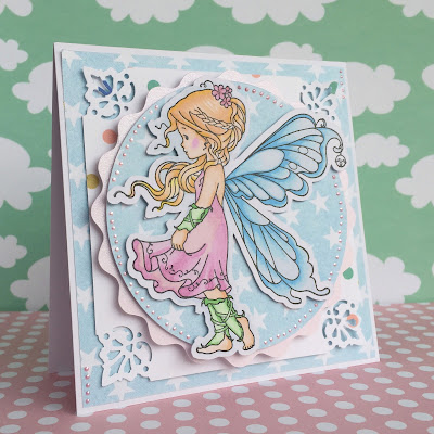 Kartka scrapbooking whimsy stamps