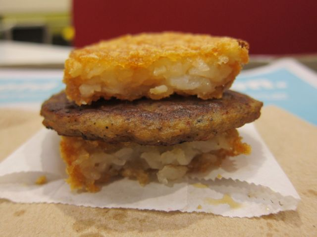 Fast Food Hack Mcdonald S Sausage Hash Brown Sandwich Brand Eating
