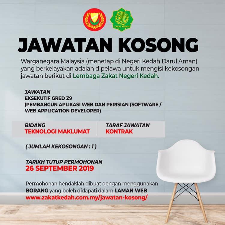 Jawatan Kosong Di Lembaga Zakat Negeri Kedah Jobcari Com