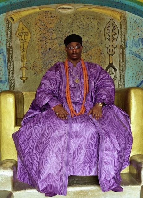 Benjamin Ikenchuku Keagborekuzi on his throne