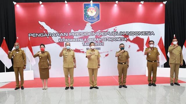 Hadiri Arahan Presiden, Walikota Bitung  ; Lockdown Lokal Untuk Bitung Masih Perlu..