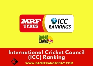 International Cricket Council (ICC) Ranking (Updated