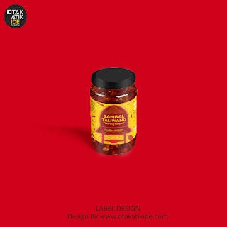 Jasa desain label botol sambal