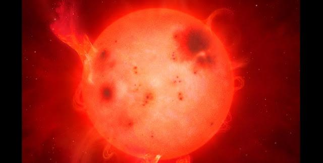 A superflare on an L-dwarf. Credit: University of Warwick/Mark Garlick