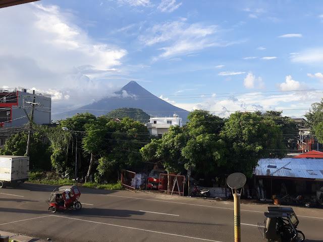 view of mayon volcano