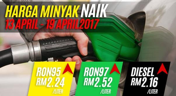 Harga Minyak Untuk 13 April Hingga 19 April 2017 Naik