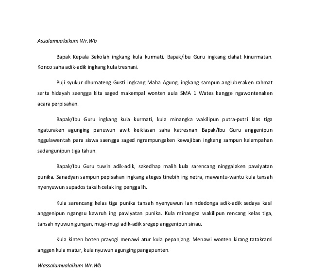 Kumpulan Teks Pidato Bahasa Jawa Kelas 6 Kumpulan Referensi Teks Pidato