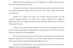 Teks Pidato Perpisahan Bahasa Jawa